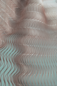 Waves - Laser cut Pattern, Leandra Eibl, Miura Ori Variation