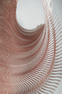 Waves - Laser cut Pattern, Miura Ori Variation, Leandra Eibl